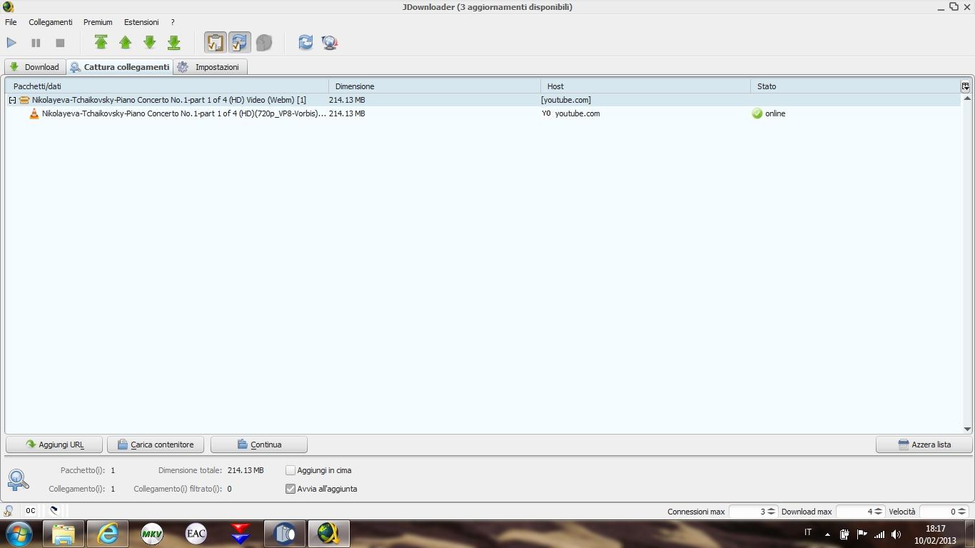 jdownloader 3 selezionare