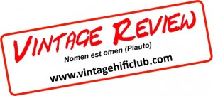 vintage review logo bianco con frase