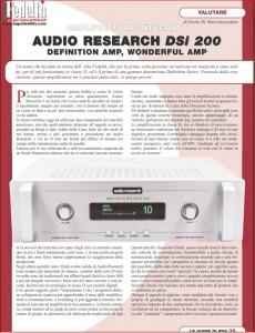 Audio Research DSI 200