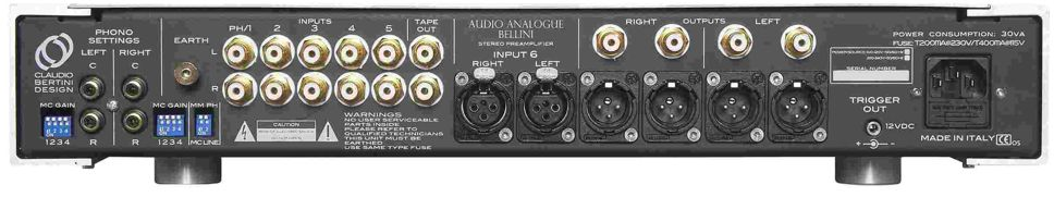 Audio Analogue bellini rearlrg