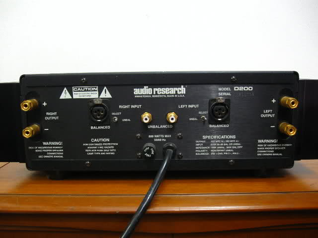 Audio Research D240MK2 back