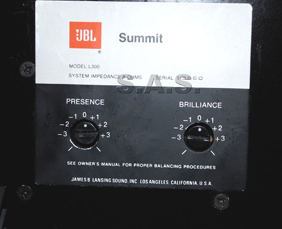 JBL L 300 Summit back7
