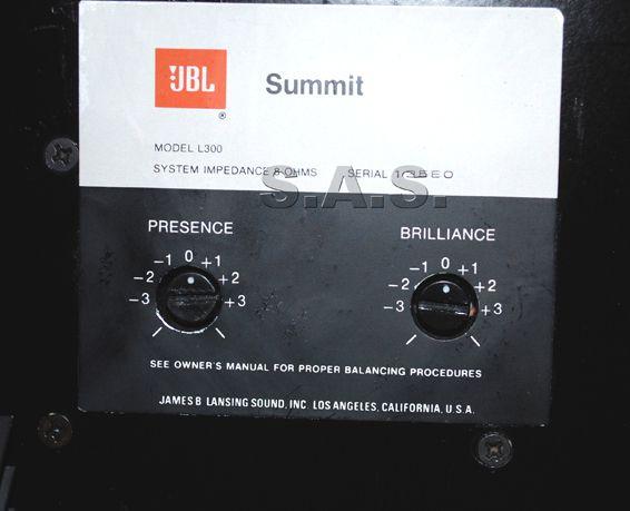 JBL L 300 Summit back7