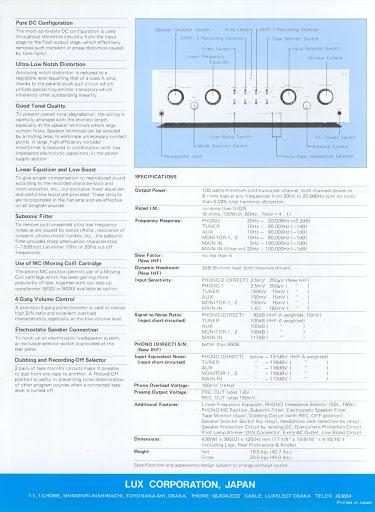 Luxman L 11 Info 1