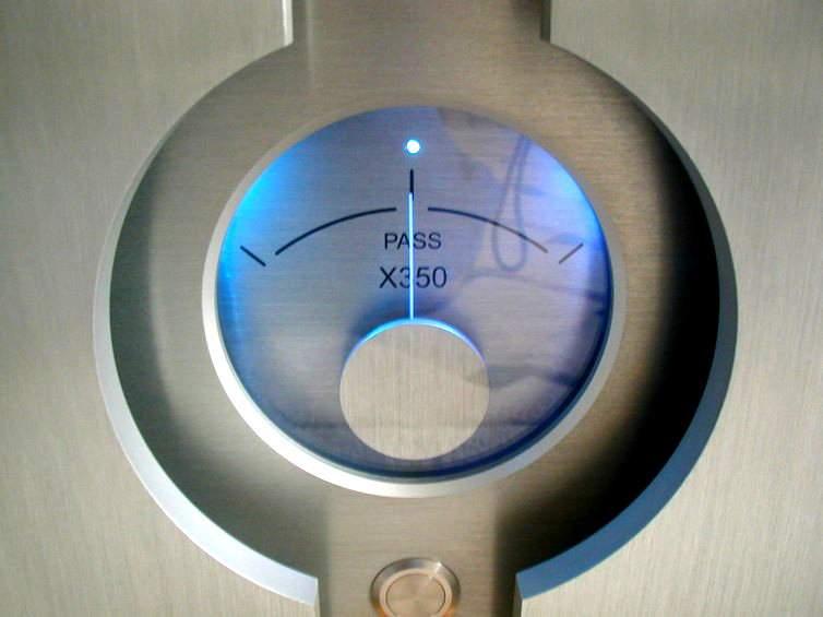 Pass Labs X350 vu meter 2