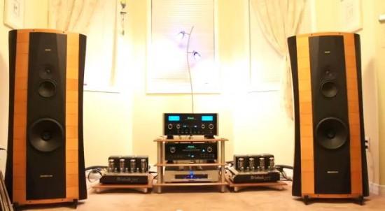 Sistema  McIntosh MC 275 + MCD 500 + C2300 + Sonus Faber Elipsa.
