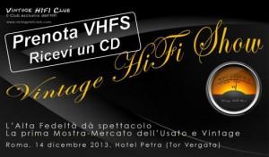 Vintage HiFi Show logo prenota e ricevi cd