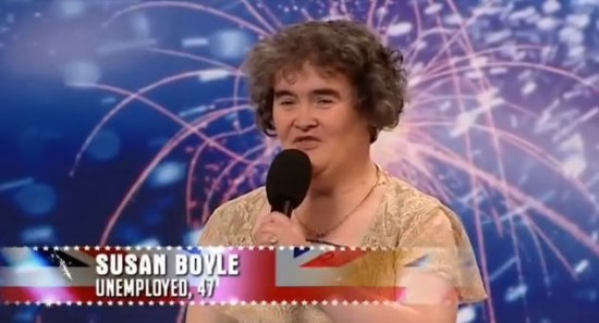 rock video Susan Boyle