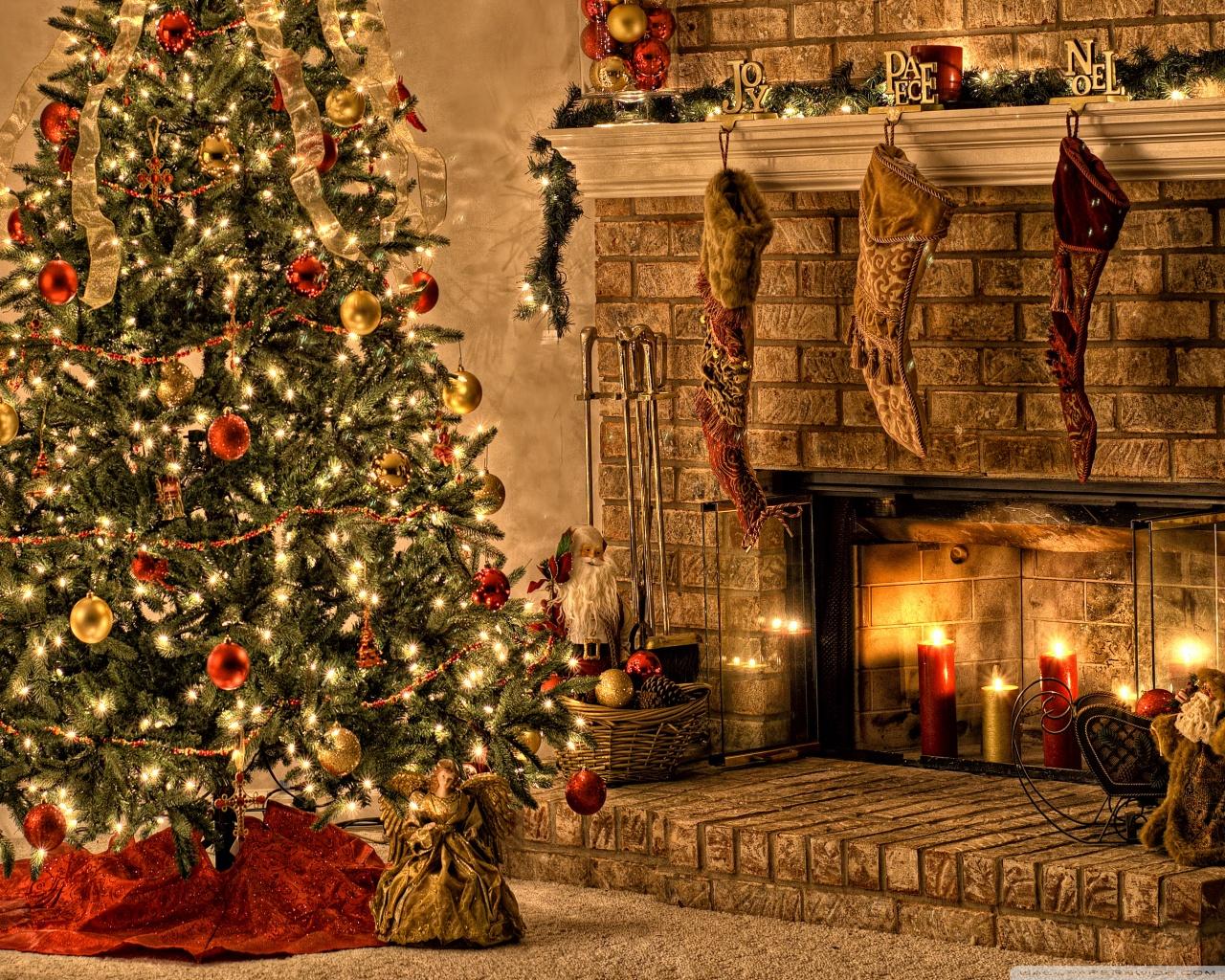 Christmas Night Wallpaper 1280x1024