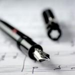 musica gif penna su spartito