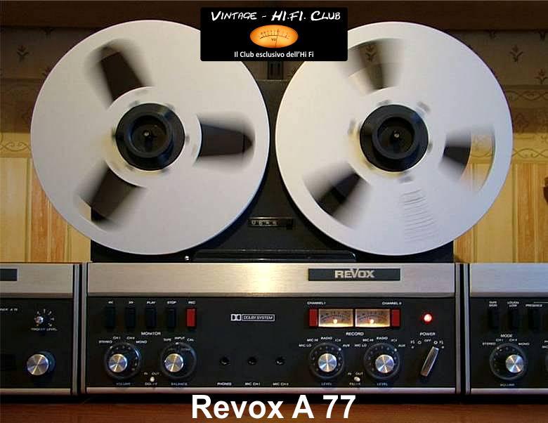 Revox A77Portrait apertura con logo