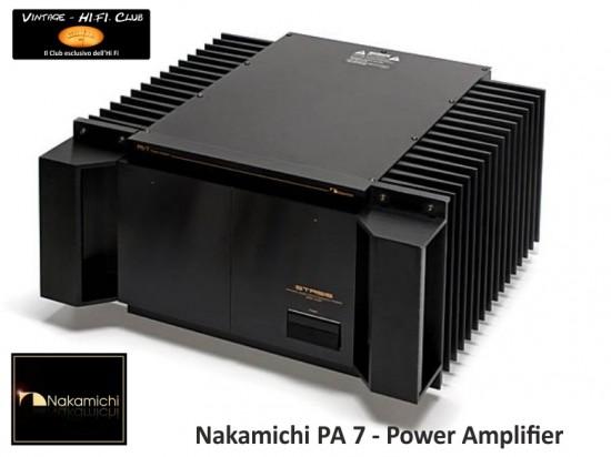 Nakamichi PA7 Apertura con logo