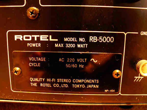 Rotel RB 5000