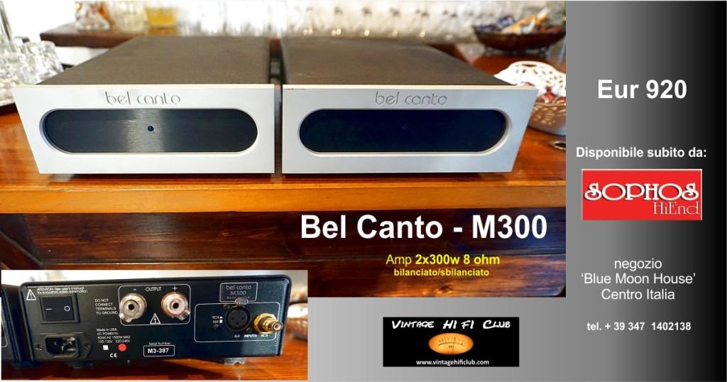 Vintage shop manifesto Bel canto vendita semplificata