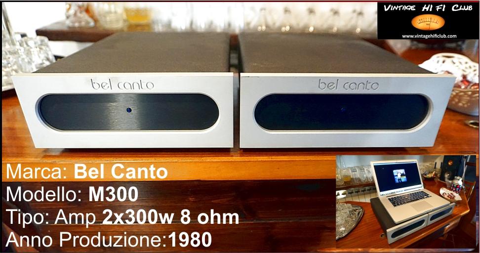 Vintage shop manifesto bel canto m 300