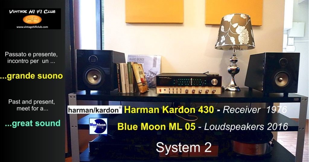 Vintage shop System 2 Harman Kardon 430 + Blue Moon ML 05 manifesto 970x510